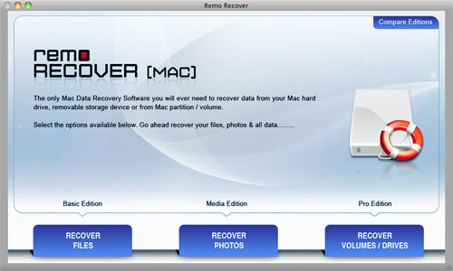 SanDisk Card Recovery - Mac Main Screen